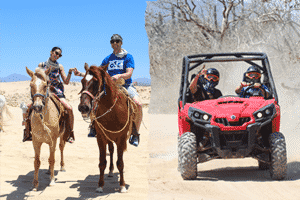 Combo UTV and Horseback Riding